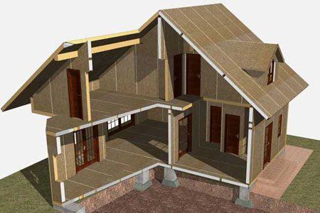 Строительство зданий на основе стеновых SIP панелей в Северске
